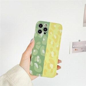 Image 3 - Voor Iphone 12 11 Pro Max Gevallen Leuke Stiksels Luipaard Telefoon Case Voor Iphone X Xr Xs Max 7 8 plus Back Cover