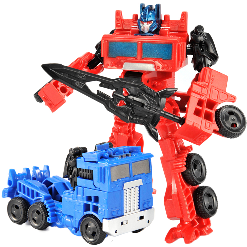 New Boy Toy Transformation Mini Robot Car Action Toy Figures Plastic Education Deformation Model Kid Adult Toys Gifts