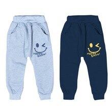 Autumn Winter Kids Smile Print Cotton Boys Pants Sports Baby 2 Colors Casual Trousers Harem