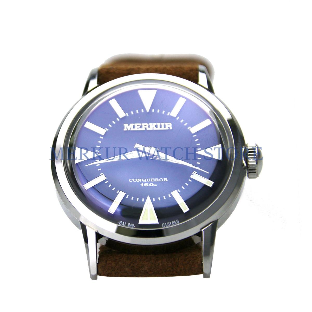 AD30 MERKUR Conqueror Vintage Dive Watch Homage First Generation Alpinist Sapphire Pop Glass 38S Japan