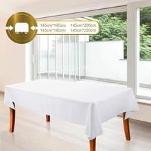 1pc branco toalha de mesa banquete do hotel festa de casamento cor pura retângulo brilhante toalha de mesa sala de jantar mesa de café toalha de mesa