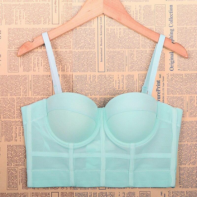 Haut Sexy hauts pour les femmes été Rouoas Femininas vente Haut court chemise Brallette Corset Corpiño De Mujer épaules dénudées Blusa