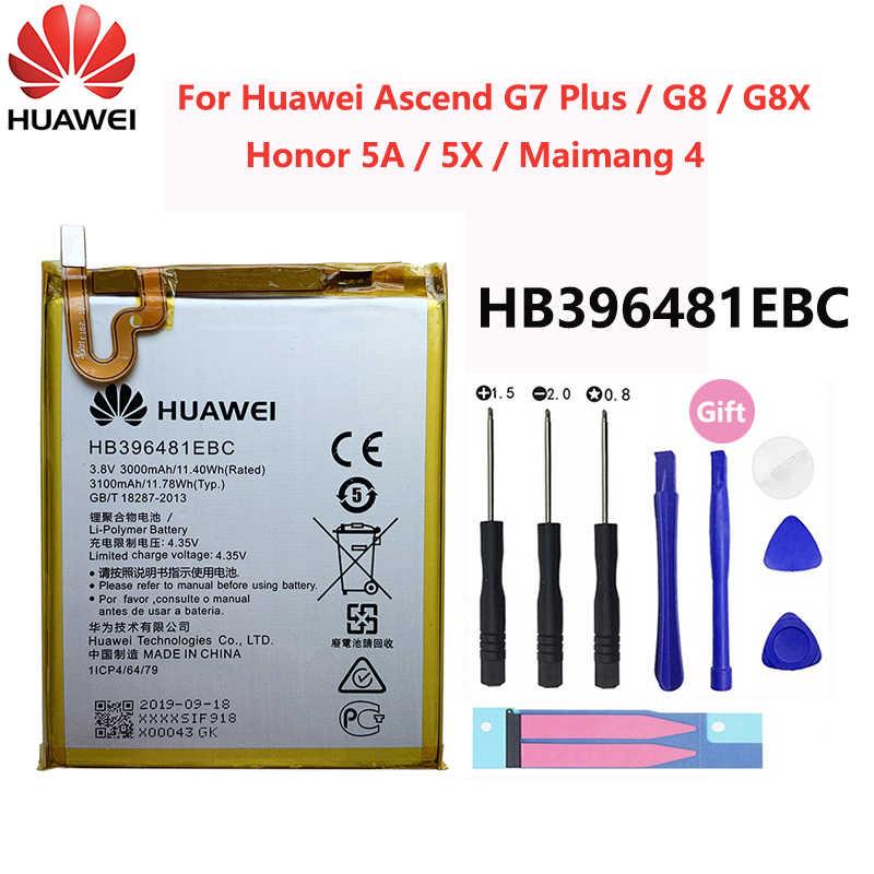 Original Huawei P9 P10 P20 Honor 8 9 Lite 10 9i 5C Enjoy Nova Mate 2 2i 3i 5A 5X 6S 7A 7X G7 Y7 G8 G10 Plus Pro SEโทรศัพท์แบตเตอรี่