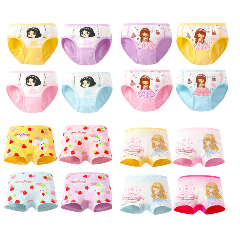 4pcs/Lot Cartoon Panties Cotton Short Pants Girls' Underwear Suit 2-10Years 1
