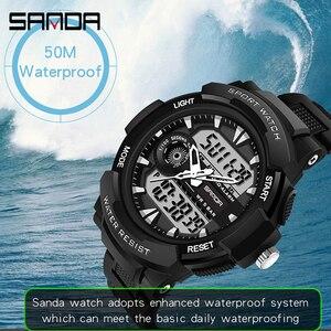 Image 5 - Reloj de pulsera electrónico multifuncional para hombre, deportivo, para natación, resistente al agua, LED