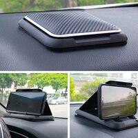 자동차 전화 홀더 마운트 범용 대시 보드 전화 홀더 미끄럼 방지 실리콘 흡입 패드 조정 가능한 스마트 폰 지원
