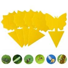 10 pçs duplo-face pegajoso inseto placa borboleta forma mosquito moscas armadilha placa inseto adesivo controle para jardim planta flores