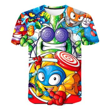 Cartoon Kids T-Shirt dzieci lato Cartoon t-shirty z krótkim rękawem dla dziewczynek ubrania dla dzieci T Shirt Super Zings topy odzież 2021 tanie i dobre opinie POLIESTER CN (pochodzenie) CZTERY PORY ROKU 4-6y 7-12y 12 + y Damsko-męskie moda W stylu rysunkowym REGULAR Z okrągłym kołnierzykiem