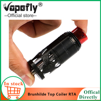 In stock E Cigarette Vape Vapefly Brunhilde Top Coiler RTA Tank 8ml/2ml W Surrounding Top Airflow Dual Coil vs galaxies MTL RDTA
