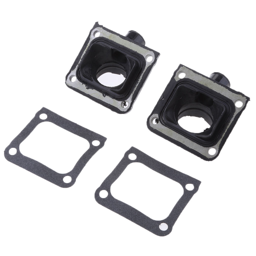 Black Rubber Carburetor Intake Manifold & Gaskets For Yamaha Banshee/YFZ350 image