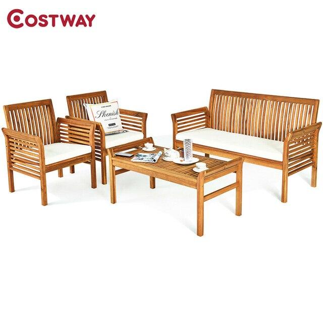 4 PCS Outdoor Wooden Furniture Set  1