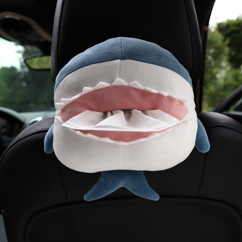 Car Tissue Boxs Cute Animals Shark Corgi Haunch Creative Design Multifunction Placement Cartoon Fashion Car Supplies Wholesale