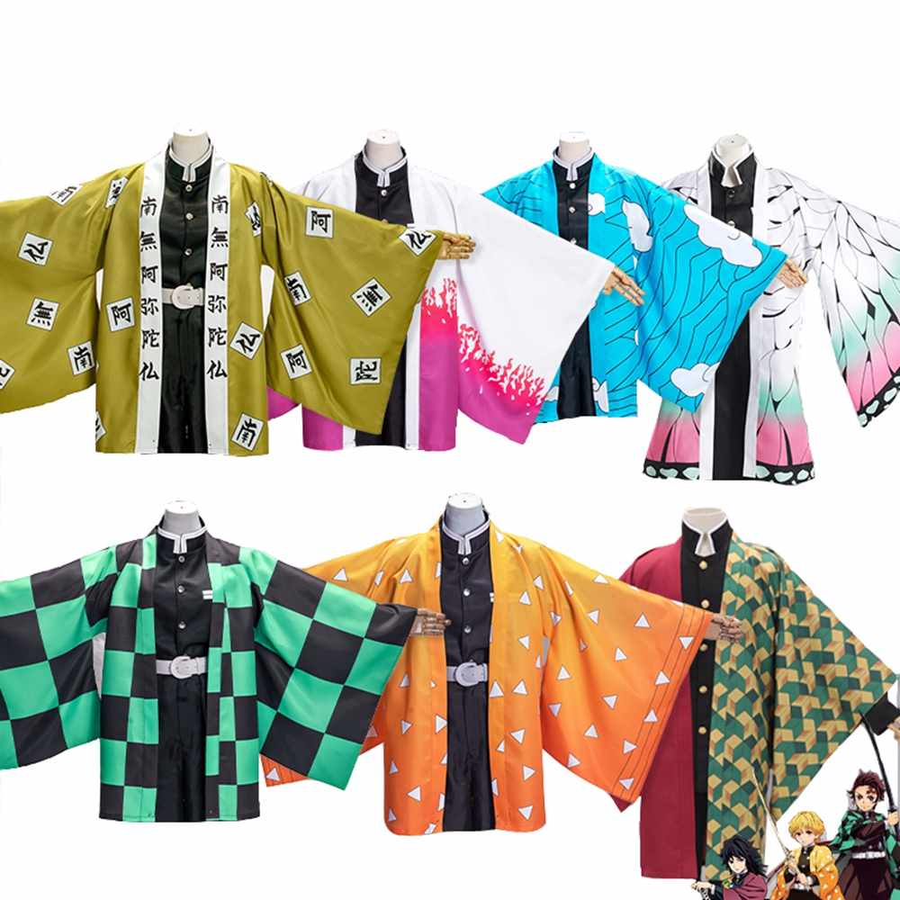 Demon Slayer Kimetsu No Yaiba Kochou Shinobu Kamado Tanjirou Cosplay Cape Tomioka Giyuu Agatsuma Zenitsu Casual Kimono Cloak
