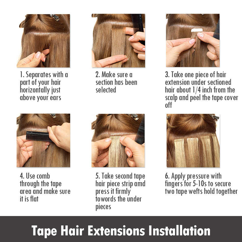 """Isheeny Remy Human Hair Tape Extensions 12"""" 14"""" 16"""" 18"""" 22"""" Skin Weft Seamless European Hair Samples For Salon Hair 20pcs"""