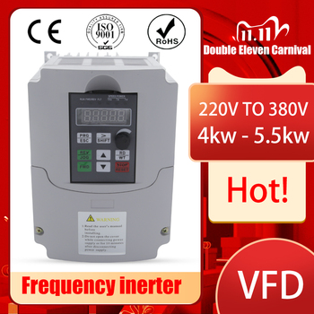 4kw AC VFD Variable Frequency Drive VFD Inverter single phase 220V Input three phase 380V Output Frequency inverter spindle moto image
