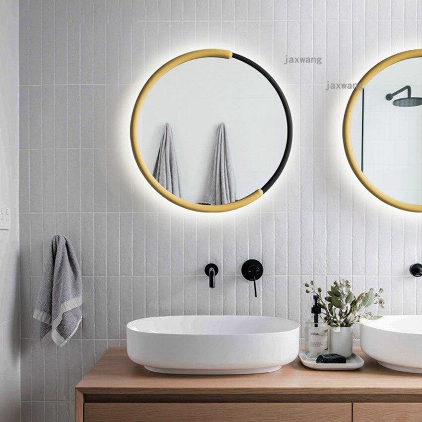 Modern LED Iron Wall Lamp Nordic Mirror Light Romantic Home Lighting Bathroom Postmodern wall lights for home Sconce Light