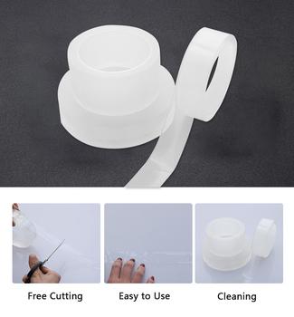 Zlew kuchenny wodoodporna przezroczysta taśma Nano pleśni mocna samoprzylepna taśma uszczelniająca basen łazienka Gap Strip silikonowe naklejki tanie i dobre opinie CN (pochodzenie) hydrauliczny NONE YS183719 Taśma Maskująca Acrylic Acrylic Glue length 3 5 10m width 20 30 50mm cooktop sink and corner seal porcelain wall
