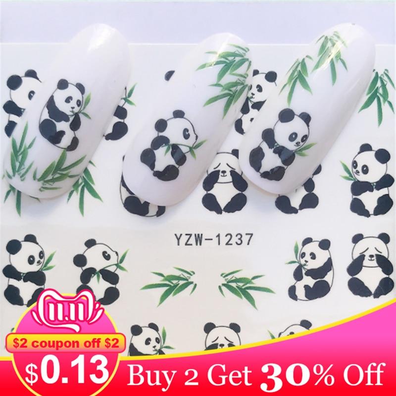 Lcj 1 folha borboleta/pena/flor arte do prego água decalques transferência adesivos bonito animal manicure adesivo