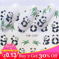 LCJ 1 Sheet Butterfly/ Feather / Flower  Nail Art Water Decals Transfer Stickers Cute Animal Manicure Sticker