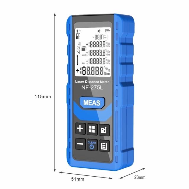 Noyafa NF-275L Green Laser Distance Meter 60M 100M Rangefinder Tape Range Finder Electronic Level Test Instrument 5