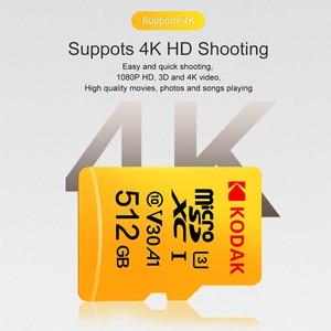 Image 2 - Kodak micro sd u3 u1 마이크로 sd 메모리 카드 micro sd 512 gb 256 gb 64 gb 128 gb 플래시 tf 카드 (태블릿 용)