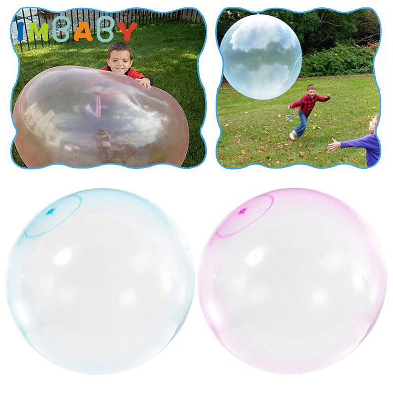 Children Outdoor Soft Air Water Filled Bubble Ball Nerf Magic Bubble Ball Blow Up Ballon Toy Fun Party Game Kids Inflatable Gift(China)