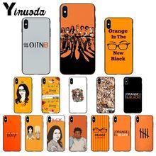 Yinuoda naranja es la nueva cubierta suave negra del teléfono del TPU para iPhone 6S 6plus 7 7plus 8 plus X Xs X MAX 5 5S XR 11 11pro.