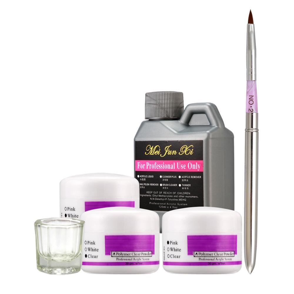 Pro 6 In 1 Generic Muiti-color Nail Art Kits Acrylic Liquid Powder Pen Dappen Dish Tool Set #46set