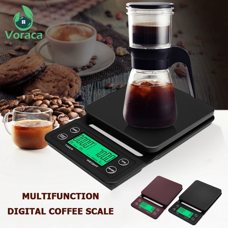 3kg/0.1g 5kg/0.1g Portable Electronic Digital LCD Coffee Scale With Timer High Precision Intelligent Food Scale Barista Tools