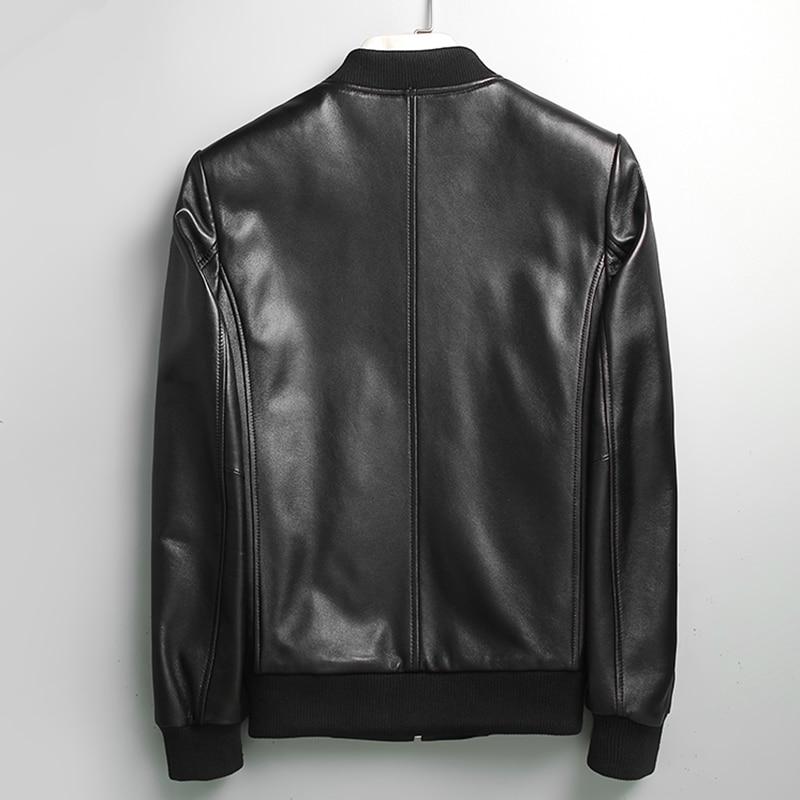 Genine Leather Jacket Men Sheepskin Leather Jackets Spring Autumn Plus Size Outwear Jaqueta De Couro 71I6086 MF135