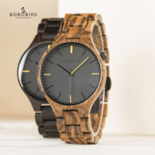 лучшая цена Relogio Masculino BOBO BIRD Wood Watch Men Top Luxury Brand Wrist Watches Male Clock in Wooden Gift box Great Gifts for Him OEM