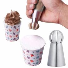 Creative And Practical Kitchen Accessories Supplies DIY Baking Tools Spherical Cream Decorating Mouth Three-piece Set cheap Decorating Tip Sets CE EU Eco-Friendly Stainless Steel Cream flower mold mouth 3cm*3cm*6 1cm 3*cream decorating mouths