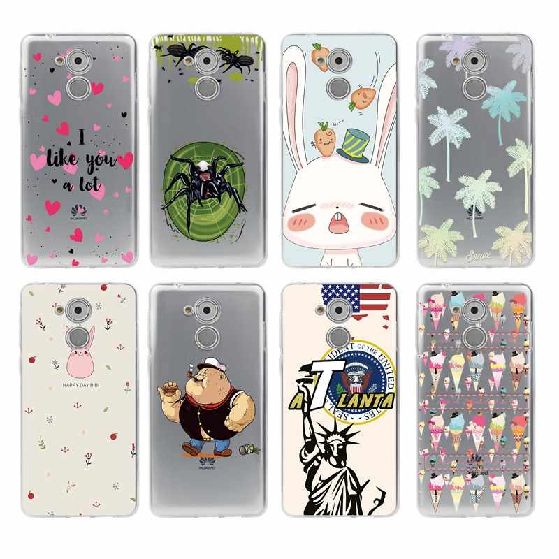 Weiche TPU Telefon Fall Cartoon blume Bunte Für honor P10lite P10 plus P8 P9 P20 honor 6A 7a 8 9 5a 5c 8X 6X 10lite C473