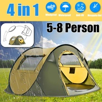 Free Build 5 8 People tent pop up camping tents outdoor camp beach open tent waterproof tents large automatic ultralight fami