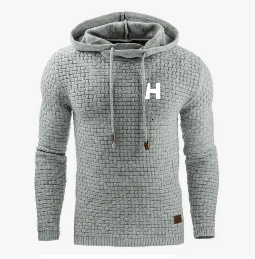 Men's Sweater Autumn And Winter Warm Knitted Sweater HH Men's Casual Hooded Pullover Men's Cotton Jacket Pull Homme Large Size