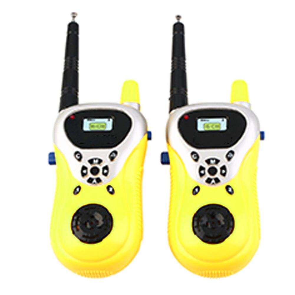 2pcs Electronic Educational Interaction Game Portable Parent Child Gift Handheld Two Way Communicator Mini Kids Walkie Talkies