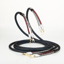 Pair VIBORG PRIME SP/1 Speaker cable with VS701G Pure Copper Gold plated spade