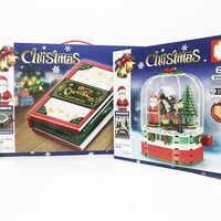 Christmas Gift Santa Claus Reindeer Building Block Bricks Toys Model Sets Compatible Sembo 49006 49007 S601090 S601094