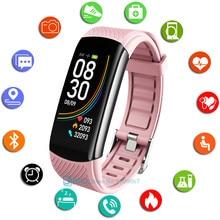 Moda inteligentny zegarek sportowy kobiet mężczyzn Smartwatch opaska monitorująca aktywność fizyczną damskie dla Android IOS inteligentny zegar pulsometr inteligentny zegarek