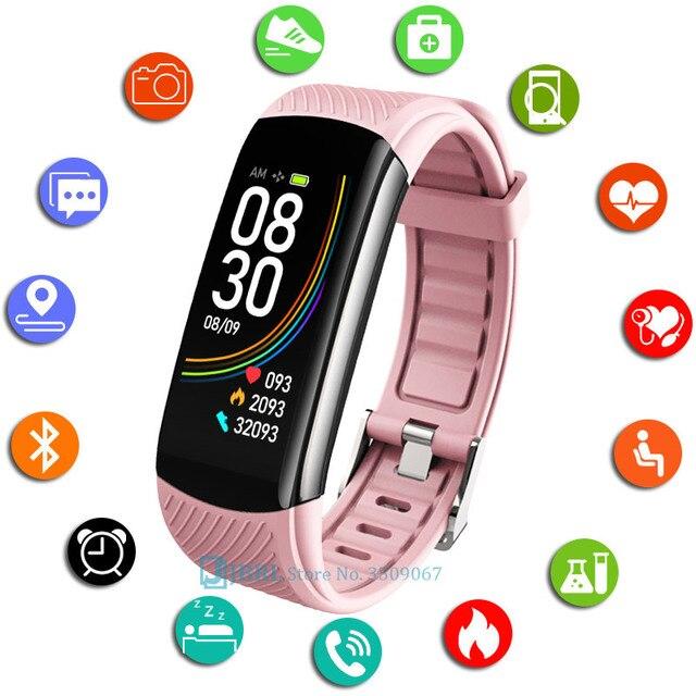 Moda spor akıllı saat kadın erkek Smartwatch spor izci bayanlar için Android IOS akıllı saat nabız monitörü akıllı izle