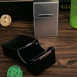 Femmes magnétique King Size en alliage d'aluminium étui à cigarettes boîte Vintage en métal poche porte-cigare tabac noir blanc Pockect