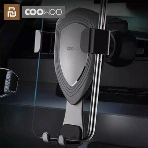 Image 1 - Xiaomi COOWOO Thông Minh Giá Đỡ Kẹp Trên Xe Với Cảm Biến Trọng Lực Một Tay Hoạt Động Tương Thích Nhiều Thiết Bị Điện Thoại
