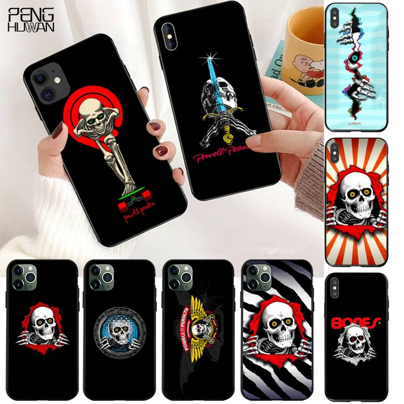 Skateboard Powell Peralta Phone Case For iphone 12 11 Pro Max Mini XS Max 8 7 6 6S Plus X 5S SE 2020 XR Cover
