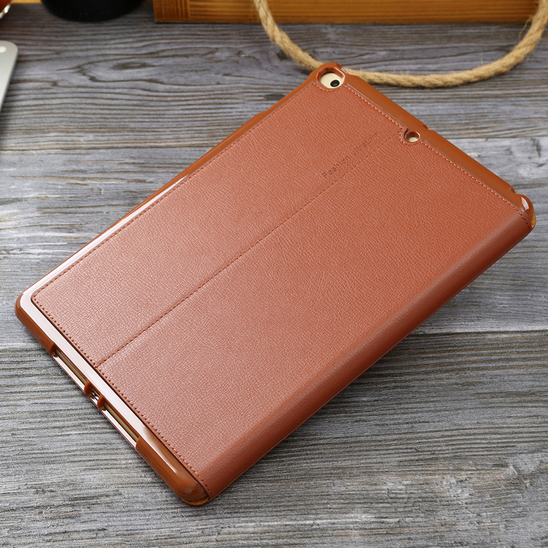 Image 2 - For iPad Air2 Case New Cowhide Genuine Leather Flip Case for iPad Air Universal Business Stand Smart Cover for Apple iPad5 iPad6Tablets & e-Books Case   -
