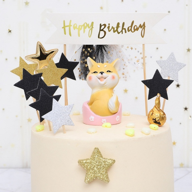 Cute Cartoon Cake Topper Animal Miniature Figurine Cake Topper Decorations Home Garden Decoration Crafts Home Desktop Decoration 5