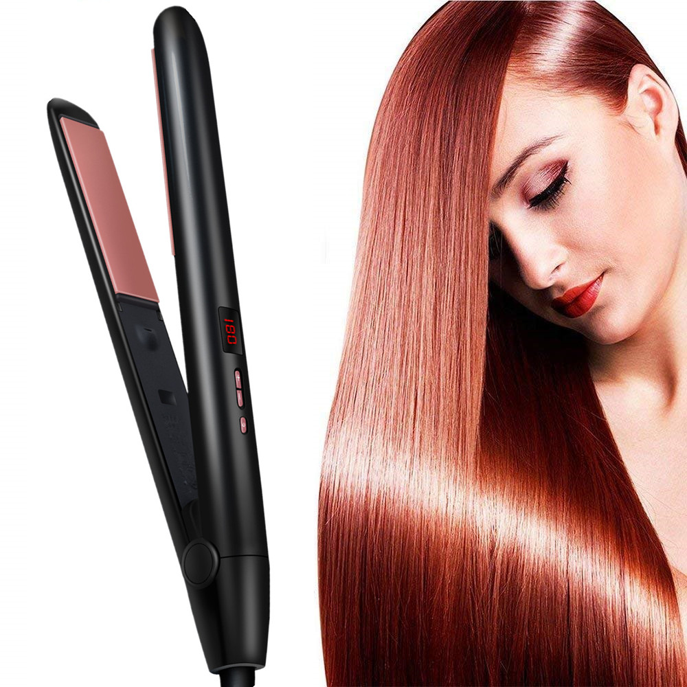 Hair Straightener For Straight Hair Curly Hair Dry-Wet Dual Purpose Flat Iron Led Digital Straightening