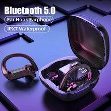سماعات لاسلكية TWS سماعة لاسلكية تعمل بالبلوتوث سماعات مع ميكروفون 9D HiFi ستيريو الرياضة مقاوم للماء سماعة الأذن هوك سماعات