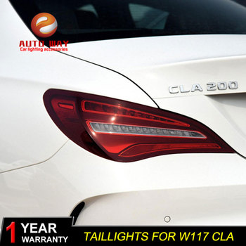 Car Styling Tail Lamp case for Mercedes-Benz CLA W117 CLA180 CLA200 Tail Lights 2014-2016 Taillights LED taillight Tail Light