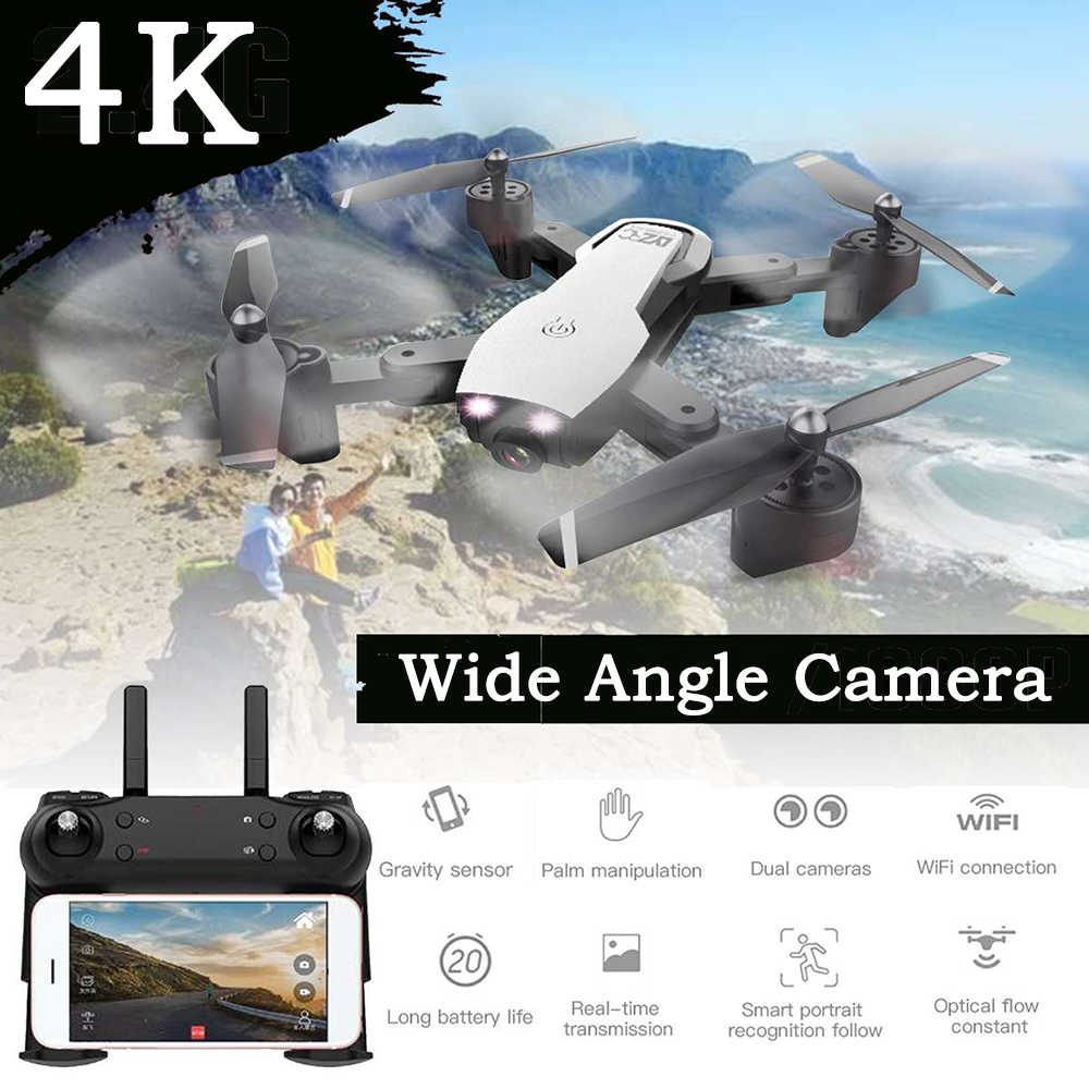RC Drone 2.4G WIFI FPV With Wide Angle Dual HD 4K Camera Helicopter 20minutes Long Flight Time Folding Portable Quadcopter L107