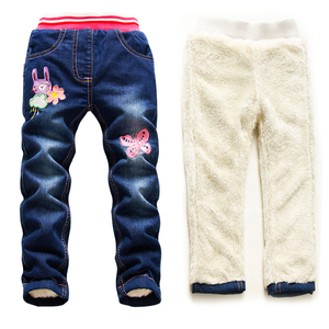 Image 3 - Hot Sale Boys Jeans Casual Child Plus Velvet Pants Winter Kids Jeans Boys 2 14Y Girls Thicking Warm Denim Trousers Teen Clothes